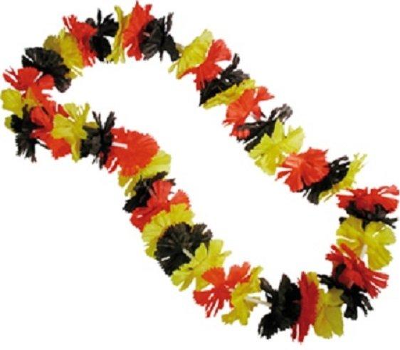 Deutschland Hawaiikette schwarz rot gold Hawaii Kette