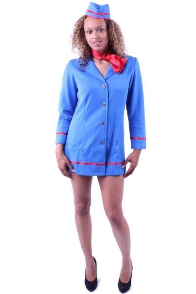 Stewardess Kostüm Flugbegleiterin