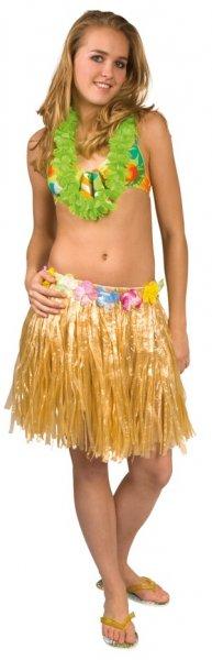 Aloha Bastrock 45cm natur sexy Tänzerin Hula Rock Röcke