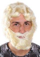 blonde Herrenperücke mit Bart blond Perücke...