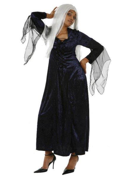 Gothic Kostüm Halloween Damenkostüm Hexenkostüme dunkelblau
