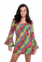 Hippiekostüm für Damen Hippiekleid Colorful Love
