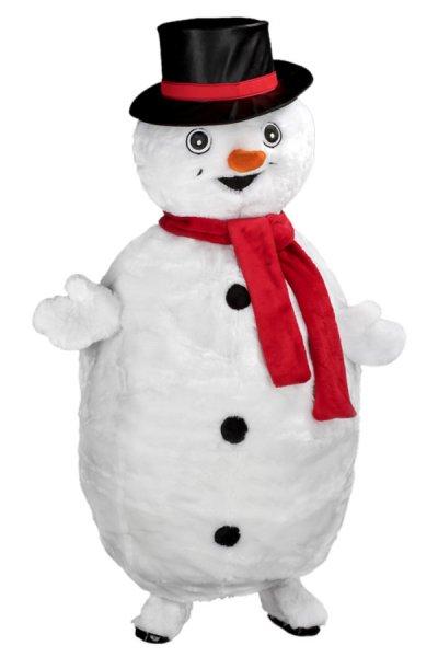 Schneemann Kostüm Lauffigur Promotion Weihnachten Werbefigur