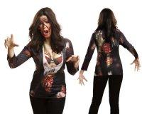 Zombie Frauen Halloween T-Shirt