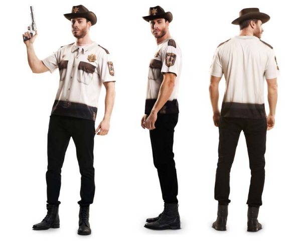 Sheriff Cowboy T-Shirt Wilder Westen Verkleidung
