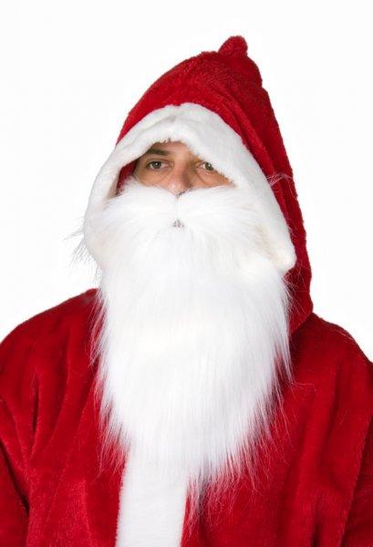 Nikolaus Bart Plüsch weiß Discount Deko Weihnachten
