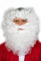 Lockenbart Nikolaus Weihnachtsmann weiß Weihnachten