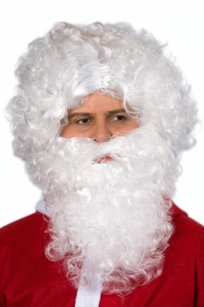 Nikolausbart weiß Weihnachtsmann Bart Weihnachten