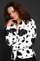 Kuh weißer Blazer Weste für Damen Damenblazer