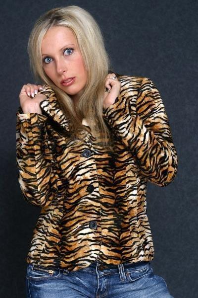 Tiger gelb brauner Blazer Weste Damen Damenblazer