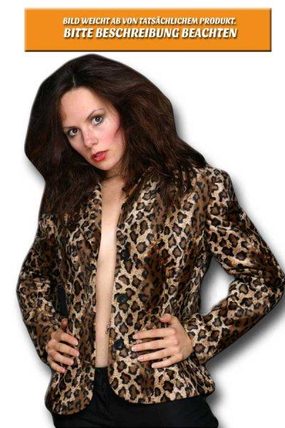 Leopard grau Blazer Weste für Damen Damenblazer
