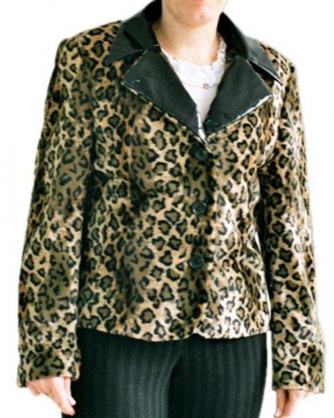 Leopard gelb Blazer Weste für Damen Damenblazer