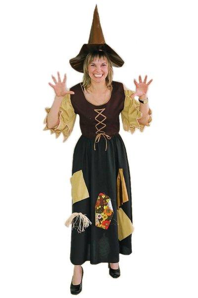 Hexenkostüm Hexe Damen Kostüm Halloween braun