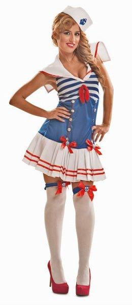 Sexy Matrosin Kostüm Seefahrerin Damenkostüm