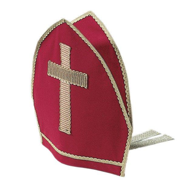 Bischofsmütze Bänder Samt Luxus Theater Weihnachts Mütze