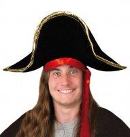Piraten Hut Pirat Piratenhut schwarz Seeräuber