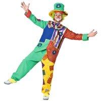 Clownkostüm Clown Verkleidung Outfit komplett