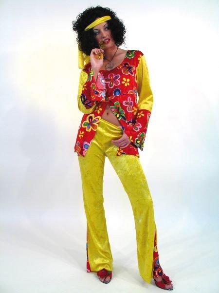 Hippie Damen Kostüm 70er Jahre Mottoparty Flower Power