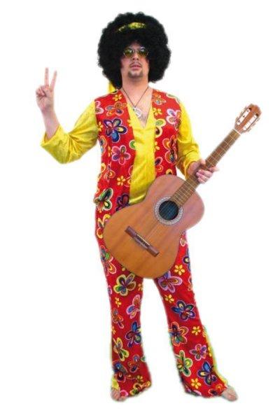 Hippie Herren Kostüm Flower Power 70er Jahre Hippiekostüm