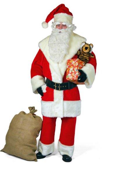 Luxus Nikolausanzug komplett Kostüm Nerzplüsch