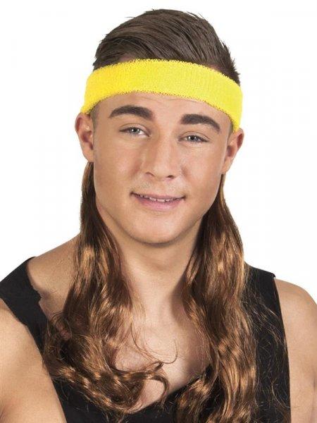 Vokuhila Stirnband mit Haaren Prollo Assi