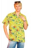 Gelbes Hawaiihemd für Motto und Beachpartys
