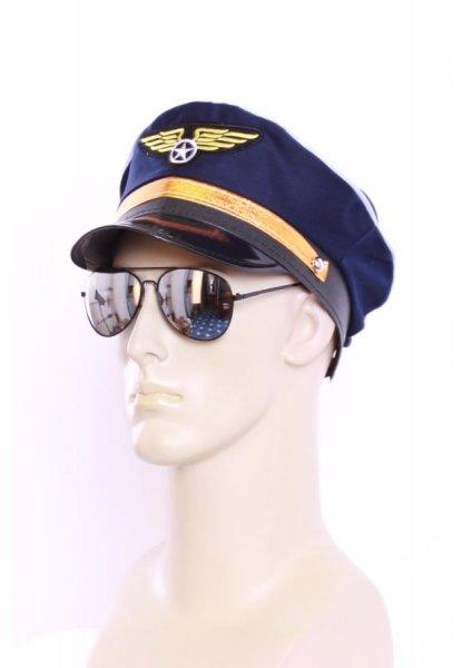 Pilot Set Pilotenmütze Pilotenbrille