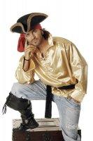 Piratenhemd gold Piraten Hemd für Piratenkostüm...