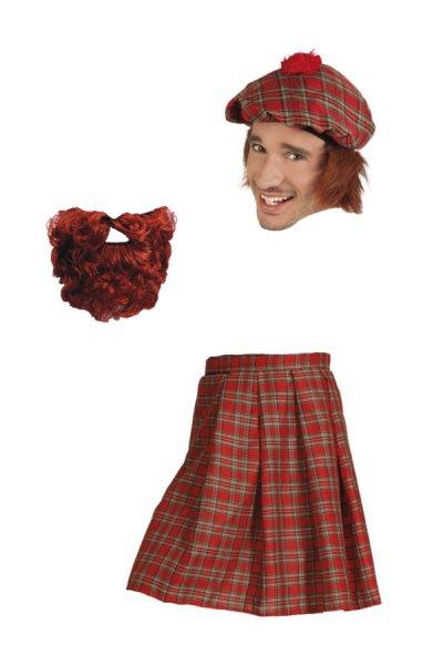 Schotten Outfit Kostüm 3 teilig