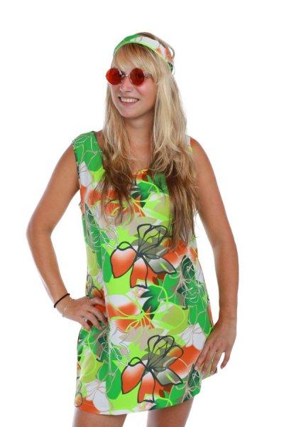 60er 70er Jahre Partykostüm Hippie Hippy Kostüm sexy Kleid
