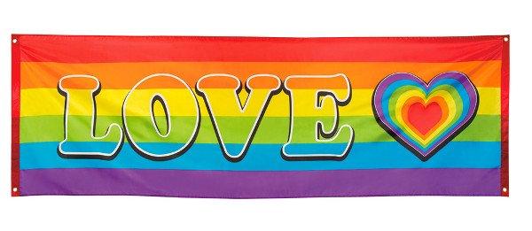 Regenbogenbanner Love