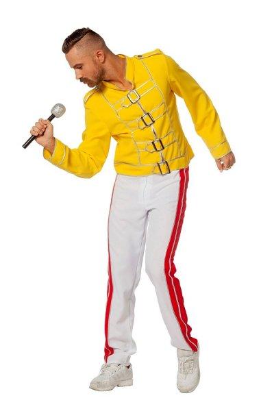 Sänger Outfit Gelbe Jacke weisse Hose