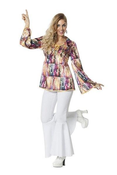 70er Jahre Disco Outfit Damen Oberteil