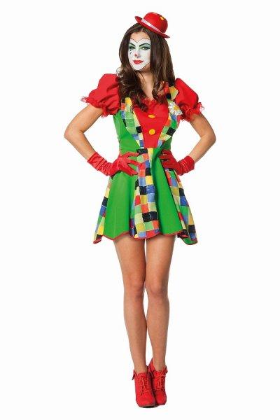 Lady Clown Kostüm Damenkostüm
