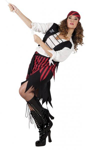 sexy Piratin Seeräuberin Damenkostüm M