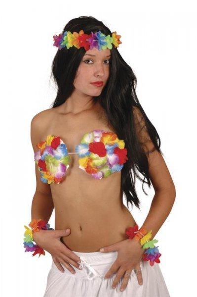 Hawai Muschel BH mit Blumen sexy Hawai Outfit hot