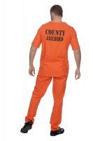 Sträfling Gefangener Kostüm orange