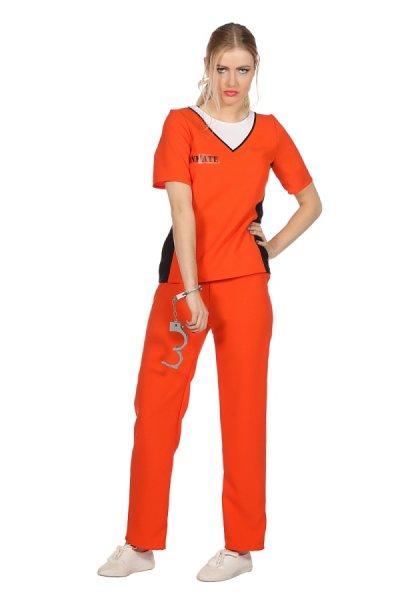 Sträflingskostüm orange Damen