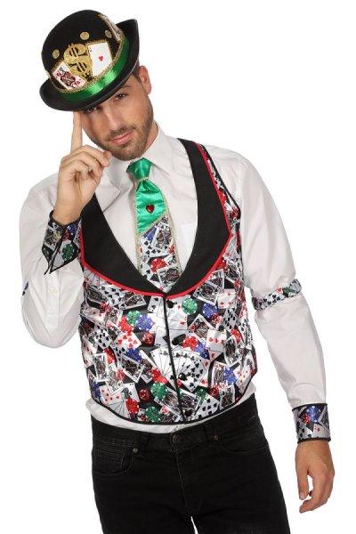 Casino Poker Weste Kostüm