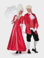 Marquis Herren Kostüm rot