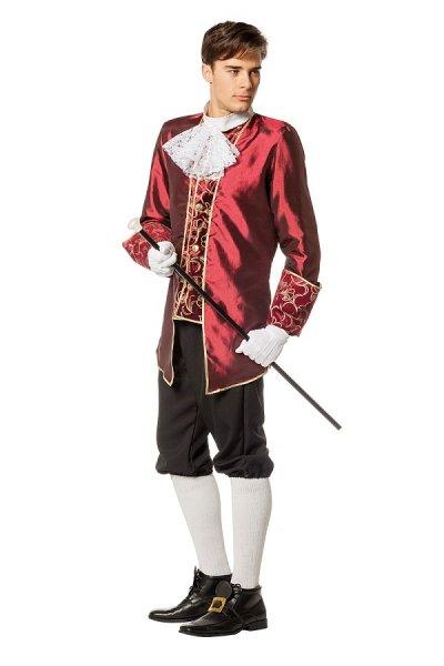 Marquis Adel Herren Kostüm weinrot