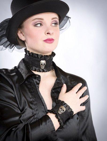 Halloween Totenkopf Hals- und Armband Set