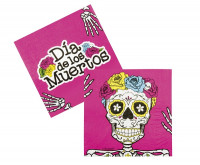 Day of the Dead 12er Set Servietten pink