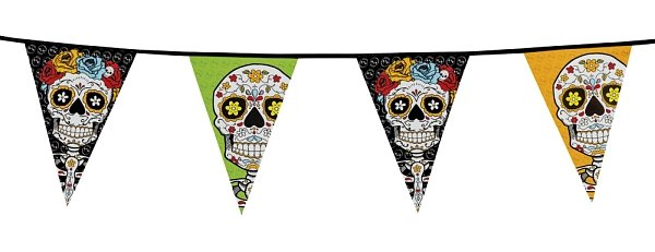 Day of the Dead Wimpelkette ca 10 m
