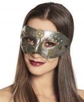 Steampunk Augenmaske silber