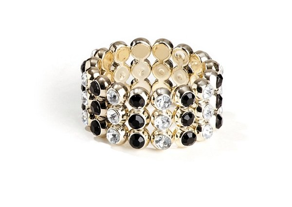 Glitzer Armband Damen gold