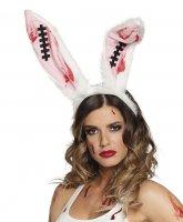 blutige Hasenohren Halloween