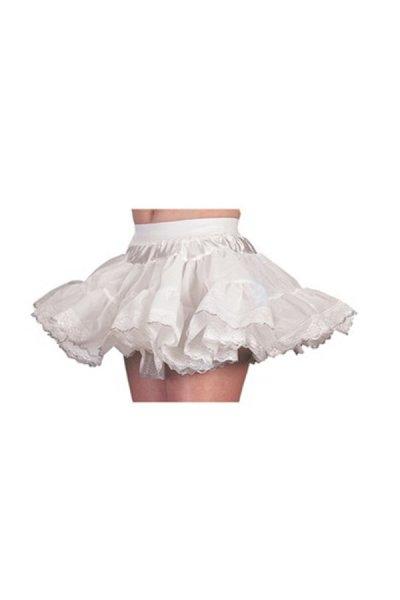 Petticoat weiß silber