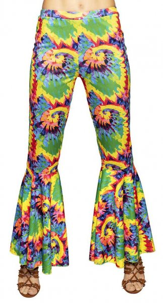 Hippie Damenhose bunt Stretch M