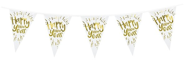 Silvester Wimpelkette Happy new Year ca. 4 m